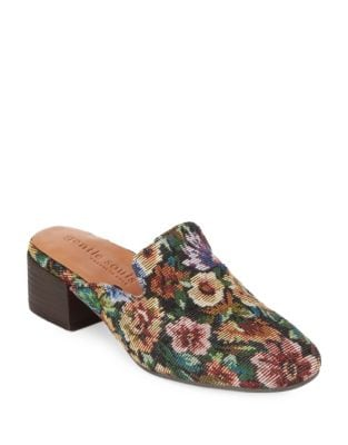Eida Floral Covered Mules by Gentle Souls