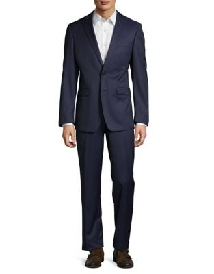 Extreme Slim-Fit Wool Suit by Calvin Klein