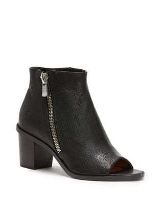 Brielle Leather Peep Toe Booties by Frye
