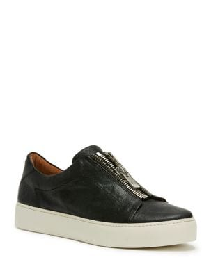 Lena Zip Low Leather Sneakers by Frye