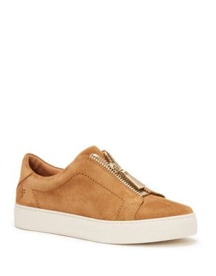 Lena Zip Low Suede Sneakers by Frye