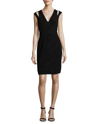 Cutout Shimmer Sheath Dress by Calvin Klein