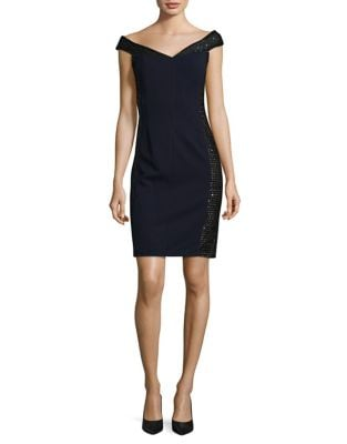 Sequined Off-the-Shoulder Sheath Dress by Calvin Klein