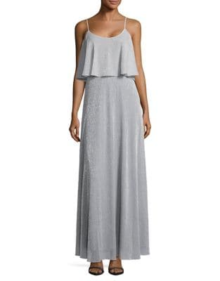 Metallic Popover Gown by Calvin Klein