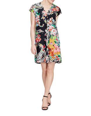Petite Floral Shift Dress 500087219121