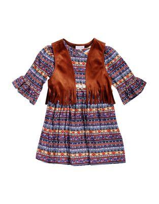Baby's Boho Dress with...