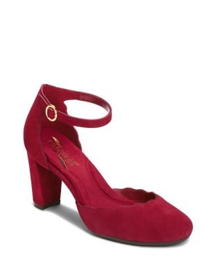 Columbus Ave Scalloped Suede Pumps by Aerosoles