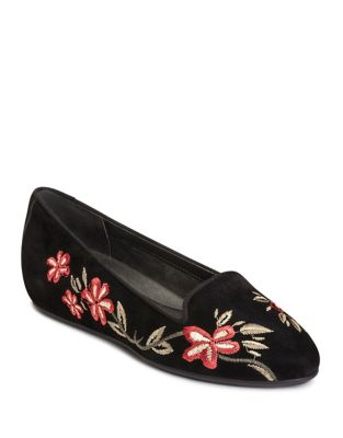 Cosmetology Suede Ballet Flats by Aerosoles