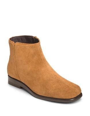 Double Trouble 2 Suede Ankle Booties by Aerosoles
