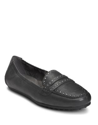 Drive Up Micro Studded Leather Loafers by Aerosoles