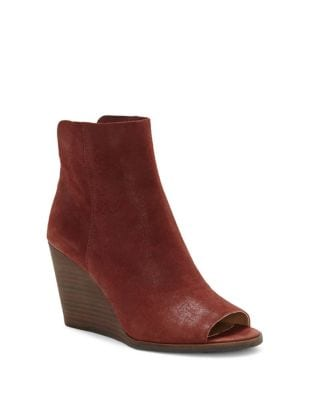 Urbi Suede Peep Toe Booties by Lucky Brand