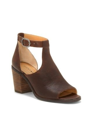 Kadian Leather Peep Toe Booties by Lucky Brand