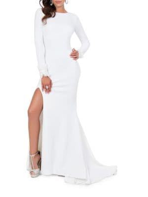 Long Sleeve Floor-Length Gown by Glamour by Terani Couture