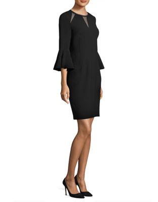 Garcia Mesh-Trimmed Sheath Dress 500087224688