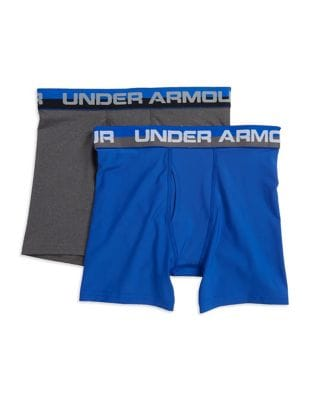 Boys TwoPiece Solid Performance Boxer Shorts