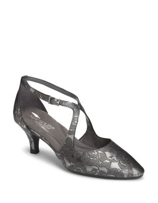 Onward Fabric Ankle Strap Pumps by Aerosoles