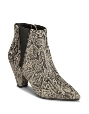 Rock On Snake Print Leather Booties by Aerosoles