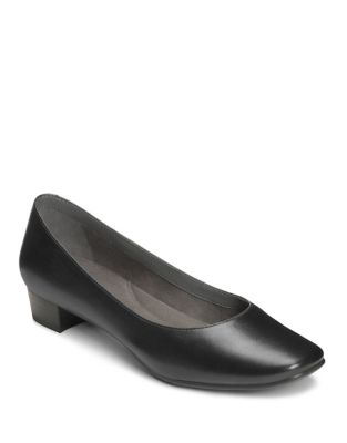 Subway Leather Low-Heel Pumps by Aerosoles