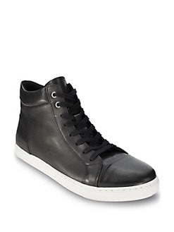 Robert Wayne Dary Sneaker(Men's) -Charcoal Leather Cheap Sale Official Site Big Discount Cheap Online EltE12MP