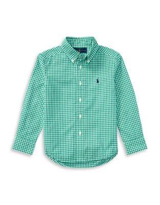 Little Boys Gingham Cotton Poplin Shirt