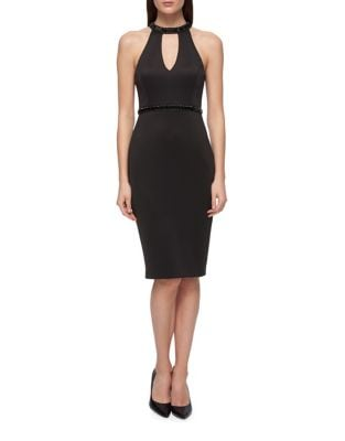 Bubble Key Little Black Dress by Guess