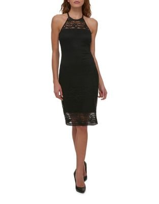 Halter Lace Strap Dress by Guess