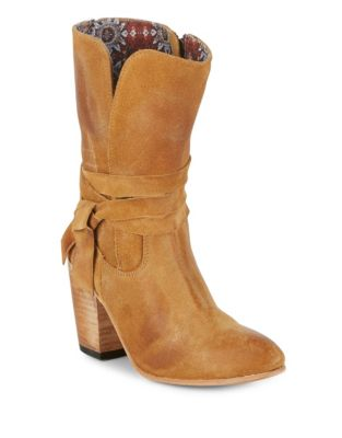 Riot Suede Booties by Freebird By Steven