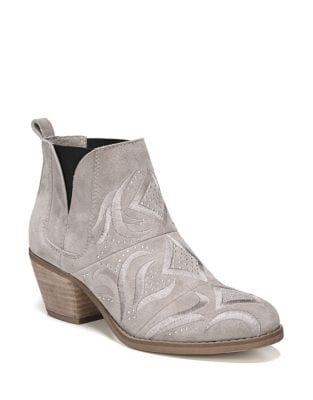 Lexy Block Heel Leather Bootie by Fergie