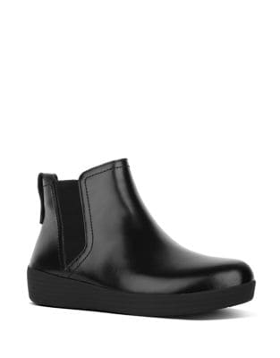Smooth Leather Chelsea Boots by FitFlop