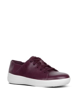 Sporty TM Lace-Up Leather Sneakers by FitFlop