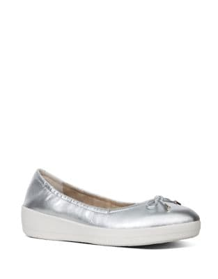 Superbendy TM Leather Ballerina Flats by FitFlop