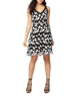 Lace Fit-&-Flare Dress by RACHEL Rachel Roy