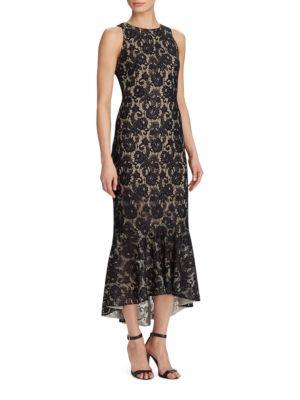 Floral Lace High-Low Dress by Lauren Ralph Lauren