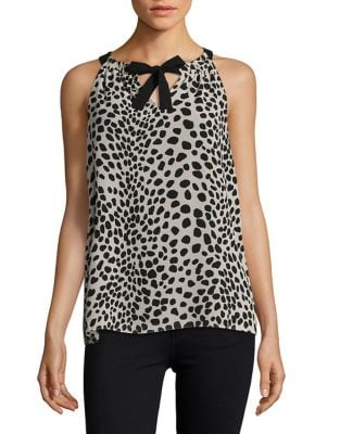 Tie Neck Halter Top 500087237692