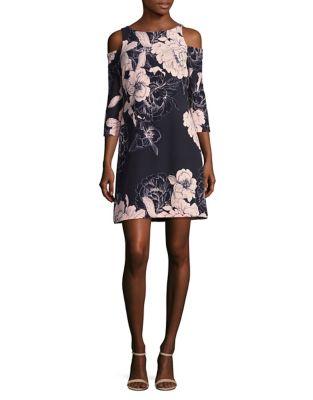 Floral Cold Shoulder Sheath Dress by Eliza J