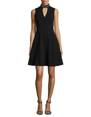 Photo of Embellished Choker Dress by Calvin Klein - shop Calvin Klein dresses sales