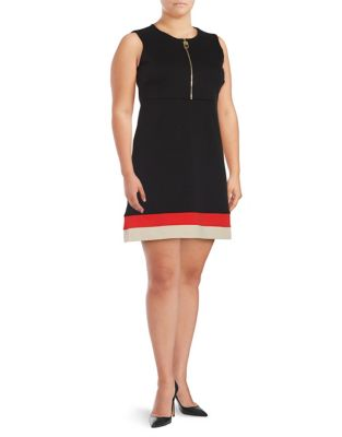 Striped A-Line Dress by Calvin Klein