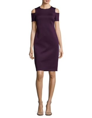 Cold Shoulder Sheath Dress by Calvin Klein