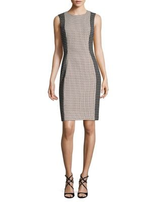 Trompe lOeil Sheath Dress by Calvin Klein