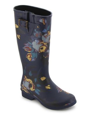 Nina Printed Matte Rubber Tall Rain Boots by Chooka