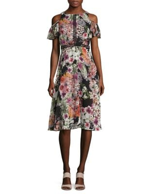 Floral Cold Shoulder Dress by Gabby Skye