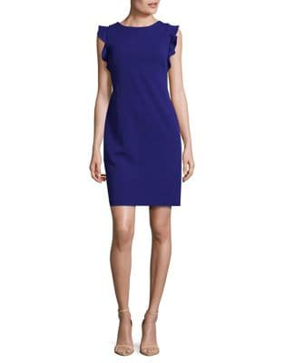 Crepe Sheath Dress by Calvin Klein