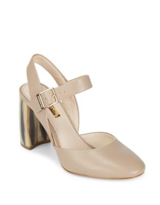 Juveau Leather Slingback Pumps by Louise et Cie