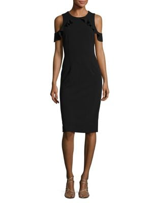 Short-Sleeve Cold Shoulder Dress by Ivanka Trump