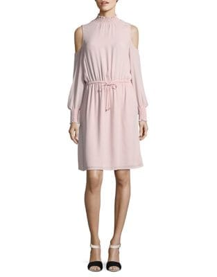 Cold Shoulder Turtleneck Spring Dress by Ivanka Trump
