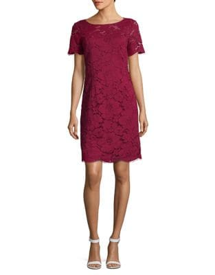 Romantic Floral Lace Design Dress by Karl Lagerfeld Paris