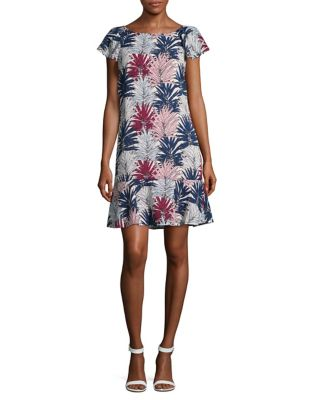 Leaf-Print Sheath Dress by Karl Lagerfeld Paris