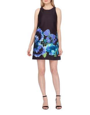 Floral Bottom Shift Dress by Tahari Arthur S. Levine