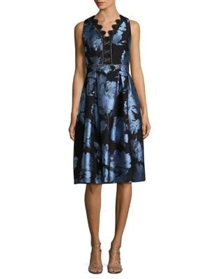 Sleeveless Scalloped Trim Dress by Ivanka Trump