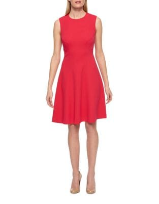 Scuba Crepe Fit-and-Flare Dress by Tommy Hilfiger